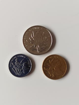 lote 3 monedas China
