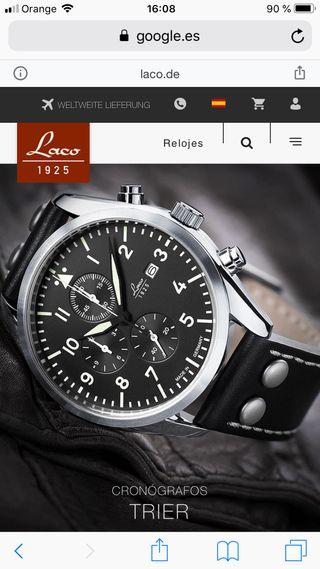 Reloj Cronómetro de Piloto LACO Modelo TRIER
