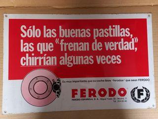 FERODO ANTIGUO CARTEL METÁLICO PUBLICITARIO