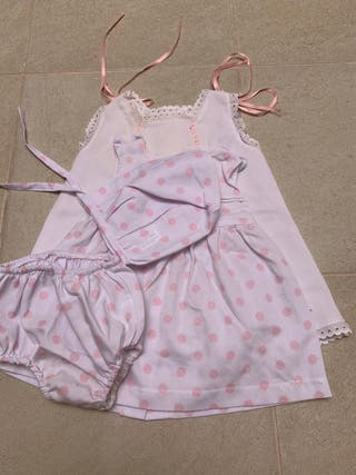 Lote 2 vestidos verano. 9-12 meses.