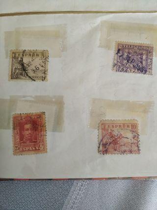 Colección sellos algunos 1950