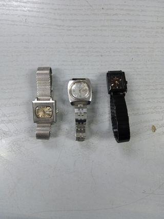 3 relojes de señora 2 automáticos 1 de pila