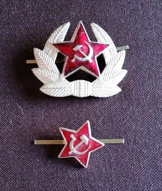 Emblemas gorro del Ejército Soviético originales