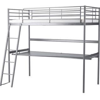 Cama elevada con escritorio - ikea