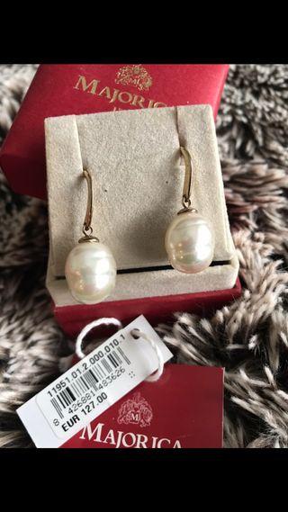 Pendientes perlas Majorica