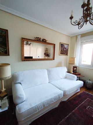 Sofa Ikea blanco 4 plazas con funda lavable