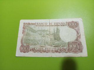 Billete verde 100 pesetas