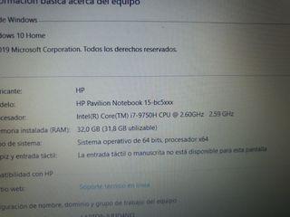 VENDO PORTATIL HP PAVILION 15-bc5xxx