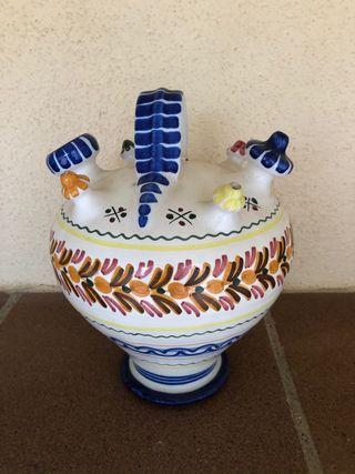 Botijo tradicional con 4 caños