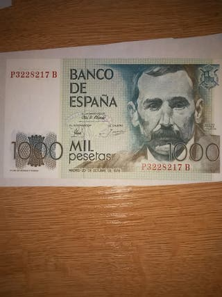 Billete 1000 pesetas 1979 Sin Circular. Serie P