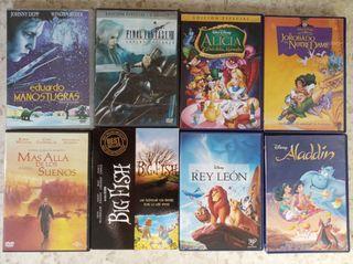 lote de películas en DVD