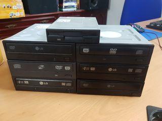 Lector grabador CD DVD ROM negro IDE