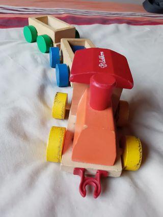 juguete tren de madera