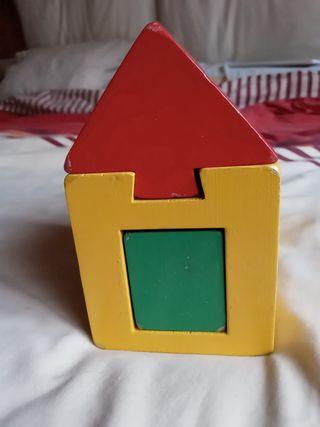 casita juguete de madera