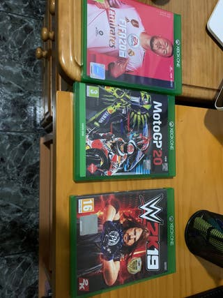 Fifa 20 + Moto gp 20 + WWE 2k19 xbox one