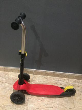 Patinete niño scooter oxelo B1 + base oxelo roja