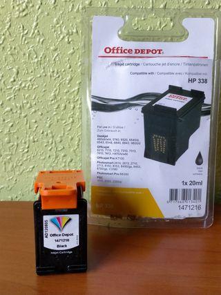 Tinta negra HP 338