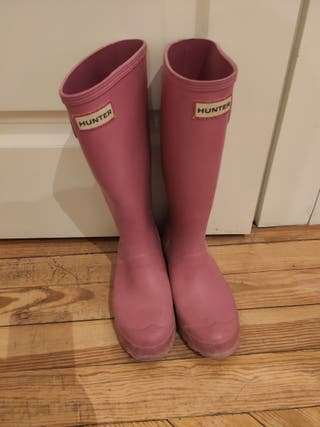Botas Hunter color rosa chicle