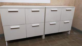 2 Muebles ikea color blanco