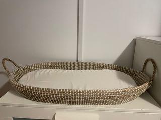 Cesto Cambiador de Bebé Fibra Natural con Colchón