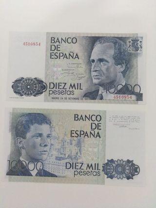 Billete de 10000 pesetas