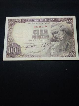 billete 100 pesetas 1946
