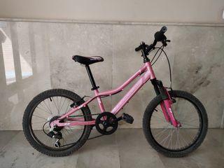 Bicicleta 20' cuadro aluminio y 6 velocidades
