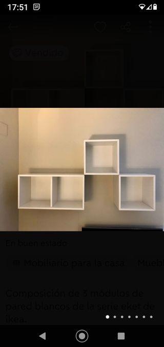 Armario estantería cubo Eket de Ikea