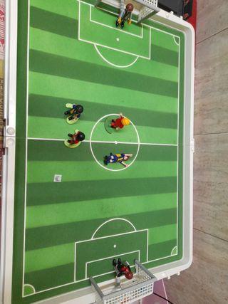 playmobil campo futbol maletinde viaje