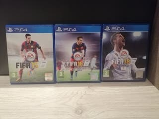 Pack FIFA 15, 16 y 18 PS4