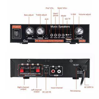 amplificador reproductor mp3