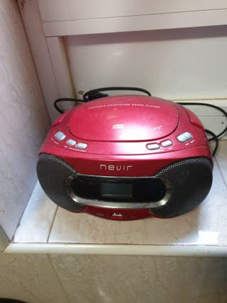 Radio CD portátil con lector USB