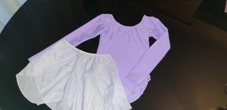 Maillot niña y falda gasa
