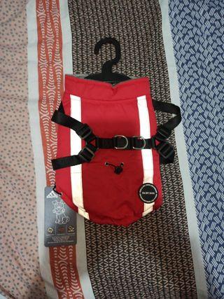 abrigo para perro pequeño talla S color rojo