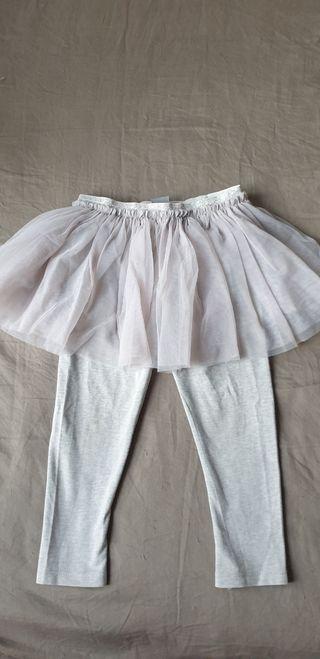 Leggins falda con tul para niña