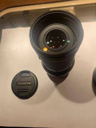 Teleobjetivo Tokina 80-400 para Canon