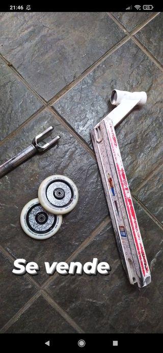 Horquilla, ruedas y tabla scooter