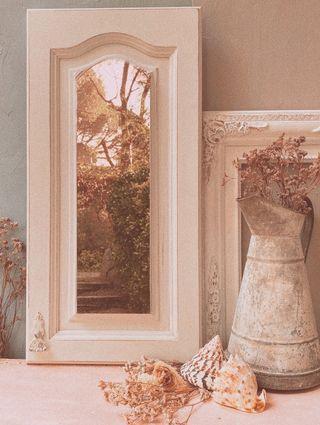 Espejo en Puerta Clásica Decapada