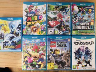 Lote de juegos de Nintendo Wii-U Luigi, Mario