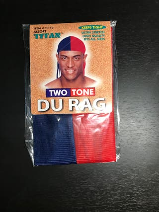 Blue and Red Durag
