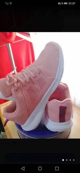 zapatillas rosa clarito