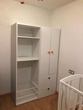 Armario infantil IKEA, color blanco
