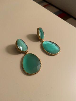 Pendientes color esmeralda