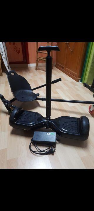 Hover board con sillín y manillar