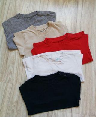 Lote camisetas básicas 12-18 meses