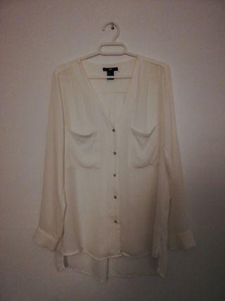 camisa blanca talla grande