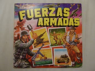 Album de cromos vintage Fuerzas Armadas