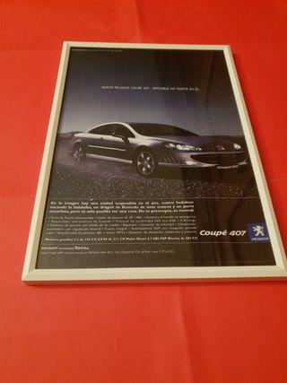 Peugeot 407 coupe cuadro