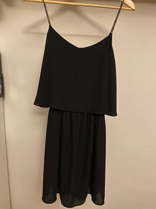 Vestido Negro Talla S (Stradivarius)