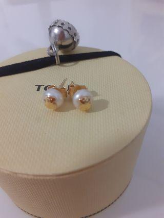 Pendientes oro perla Tous originales